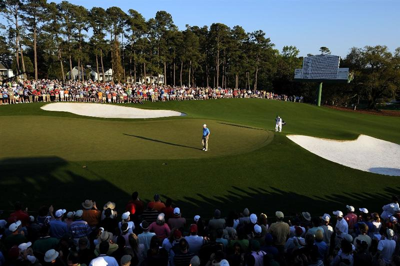 AUGUSTA, GA - APRIL 11:  Chad Campbell walks onto the 18th green during the third round of the 2009 Masters Tournament at Augusta National Golf Club on April 11, 2009 in Augusta, Georgia.  (Photo by Harry How/Getty Images)