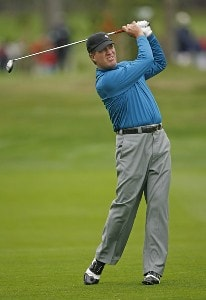 Steve Elkington during the first round of the AT&T Pebble Beach National Pro-Am on the Poppy Hills Golf Course in Pebble Beach, California, on February 8, 2007. PGA TOUR - 2007 AT&T Pebble Beach National Pro-Am - First RoundPhoto by Hunter Martin/WireImage.com