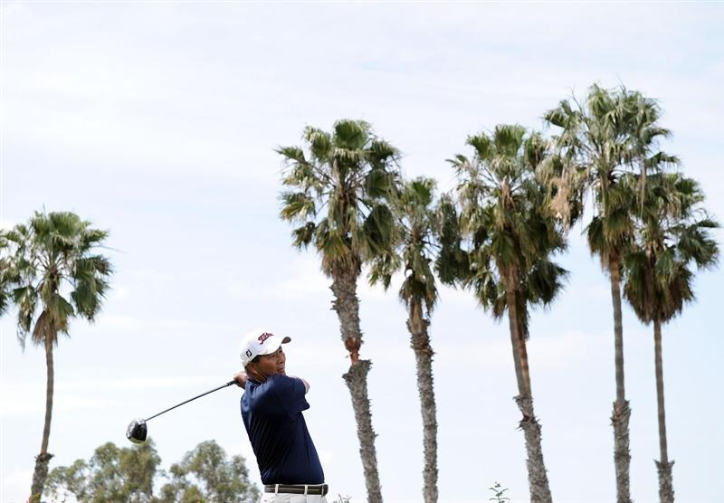 NEWPORT BEACH, CA - MARCH 07:  Chien Soon Lu of Taiwan hits a tee shot on the third hole during the third round of the Toshiba Classic at the Newport Beach Country Club on March 7, 2010 in Newport Beach, California.  (Photo by Harry How/Getty Images)