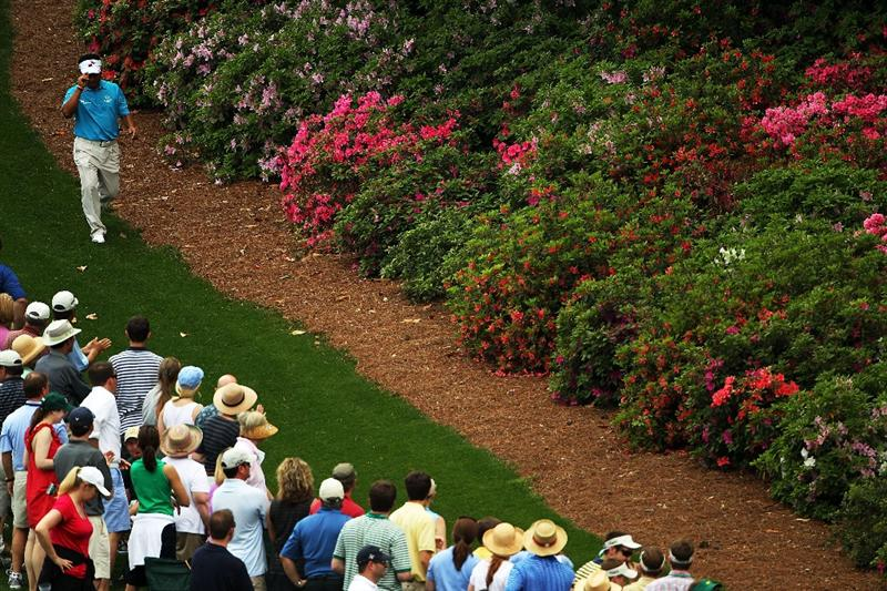 AUGUSTA, GA - APRIL 09:  K.J. Choi of South Korea walks on the sixth hole during the third round of the 2011 Masters Tournament at Augusta National Golf Club on April 9, 2011 in Augusta, Georgia.  (Photo by Jamie Squire/Getty Images)