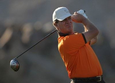Steve Elkington hits a tee shot on the second hole during the fourth round of the 49th Bob Hope Chrysler Classic at the Silverrock Resort on January 19, 2008 in La Quinta, California. PGA TOUR - 2008 Bob Hope Chrysler Classic - Round FourPhoto by Harry How/Getty Images