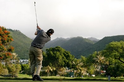 Steve Marino hits his tee shot at the 7th hole during the second round of the Sony Open in Hawaii held at Waialae Country Club on January 11, 2008 in Honolulu, Hawaii. PGA TOUR - 2008 Sony Open in Hawaii - Second RoundPhoto by Stan Badz/PGA TOUR/WireImage.com