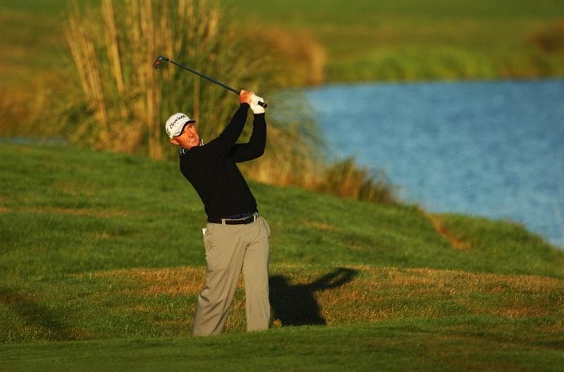 CHRISTCHURCH, NEW ZEALAND - MARCH 04:  David McKenzie of Australia plays an approach shot on the 10th hole during the New Zealand PGA Championship Pro-Am at the Clearwater Golf Club March 4, 2009 in Christchurch, New Zealand.  (Photo by Phil Walter/Getty Images)