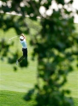 SILVIS, IL - JULY 12:  Will MacKenzie plays his second shot from the second fairway during the third round of the 2008 John Deere Classic at TPC at Deere Run on Saturday, July 12, 2008 in Silvis, Illinois.  (Photo by Kevin C. Cox/Getty Images)