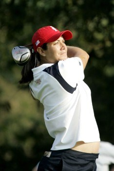 Laura Diaz during the Sunday singles matches at the Solheim Cup at Crooked Stick Golf Club in Carmel, Indiana on September 11, 2005.Photo by Michael Cohen/WireImage.com