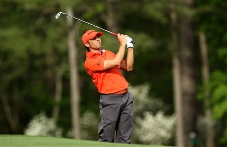 AUGUSTA, GA - APRIL 10:  Sergio Garcia of Spain hits his tee shot on the 12th hole during the first round of the 2008 Masters Tournament at Augusta National Golf Club on April 10, 2008 in Augusta, Georgia.  (Photo by David Cannon/Getty Images)