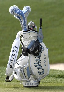 Morgan Pressel's Callaway golf bag near the first green during the Puff 'n Stuff Catering pro-am at the 2007 Ginn Open April 11, 2007 at the Ginn Reunion Resort in Reunion, FLorida. LPGA - 2007 Ginn Open - Puff 'n Stuff Catering Pro Am - April 11, 2007Photo by Al Messerschmidt/WireImage.com