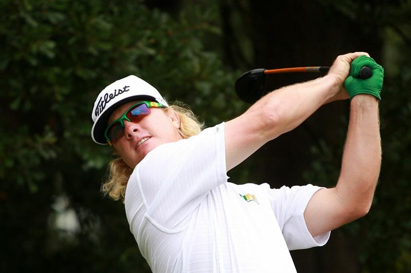 ATLANTA - SEPTEMBER 26:  Charley Hoffman hits his tee shot on the third hole during the final round of THE TOUR Championship presented by Coca-Cola at East Lake Golf Club on September 26, 2010 in Atlanta, Georgia.  (Photo by Scott Halleran/Getty Images)