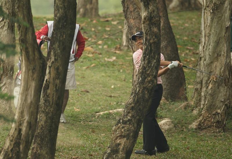 HONG KONG - NOVEMBER 18:  Liang Wen-Chong of China in action during day one of the UBS Hong Kong Open at The Hong Kong Golf Club on November 18, 2010 in Hong Kong, Hong Kong.  (Photo by Ian Walton/Getty Images)