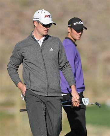 MARANA, AZ - FEBRUARY 24:  Justin Rose of England and Martin Kaymer of Germany during the second round of the Accenture Match Play Championship at the Ritz-Carlton Golf Club on February 24, 2011 in Marana, Arizona.  (Photo by Stuart Franklin/Getty Images)