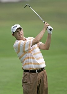 Bill Haas during the second round of the Booz Allen Classic at TPC Avenel in Potomac, Maryland, on June 23, 2006.Photo by Hunter Martin/WireImage.com