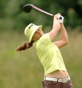 Patricia Meunier-Lebouc in action during the final round of the 2006 Franklin American Mortgage Championship benefiting the Monroe Carell Jr. Children's Hospital at Vanderbilt at Vanderbilt Legends Club in Franklin, Tennessee on May 7, 2006.Photo by Steve Grayson/WireImage.com