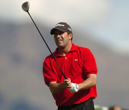 Jose Maria Olazabal in action during the second round of the PGA's Tour 2005 Chrysler Classic of Tucson at the Omni Tucson National Golf Resort & Spa February 25, 2005 in Tuscon, Arizona.