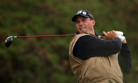 SOUTHPORT, UNITED KINGDOM - JULY 17:  Matt Kuchar of the USA hits his tee shot on the 11th hole during the First Round of the 137th Open Championship on July 17, 2008 at Royal Birkdale Golf Club, Southport, England.  (Photo by Warren Little/Getty Images)
