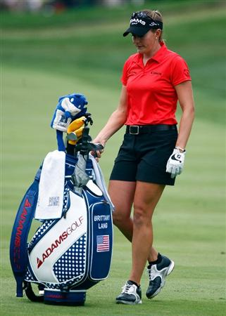 BETHLEHEM, PA - JULY 10:  Brittany Lang waits in the third fairway during the second round of the 2009 U.S. Women's Open at the Saucon Valley Country Club on July 10, 2009 in Bethlehem, Pennsylvania.  (Photo by Scott Halleran/Getty Images)