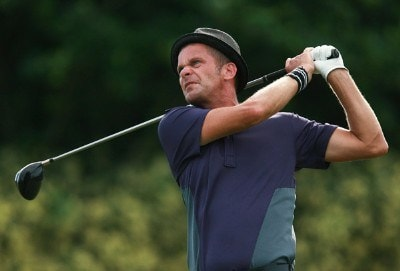 Jesper Parnevik of Sweden hits his tee shot on the 14th hole during the third round of the Ginn Sur Mer Classic at Tesoro on October 27, 2007 in Port Saint Lucie, Florida. PGA TOUR - 2007 Ginn sur Mer Classic - Third RoundPhoto by Doug Benc/WireImage.com