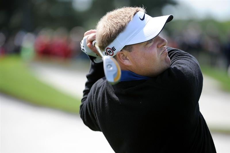 AUGUSTA, GA - APRIL 06:  Carl Pettersson of Sweden watches a shot during a practice round prior to the 2009 Masters Tournament at Augusta National Golf Club on April 6, 2009 in Augusta, Georgia.  (Photo by Harry How/Getty Images)