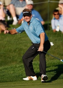 Fred Funk makes an eagle at #16 during the fourth round of the Charles Schwab Cup Championship at Sonoma Golf Club on October 28, 2007, in Sonoma, California. Champions Tour - 2007 Charles Schwab Cup Championship - Final RoundPhoto by Chris Condon/PGA TOUR/WireImage.com