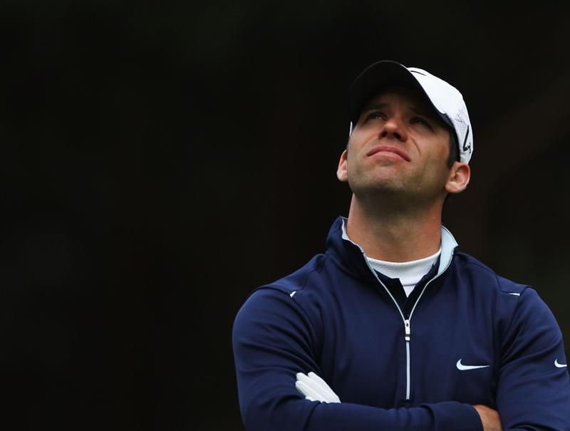 VIRGINIA WATER, ENGLAND - MAY 26:  Paul Casey of England looks on during the second round of the BMW PGA Championship at the Wentworth Club on May 27, 2011 in Virginia Water, England.  (Photo by Warren Little/Getty Images)
