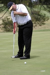 Peter Senior of Australia during the final round of the Jacob's Creek Open Championship, February 19, 2006, held at Royal Adelaide Golf Club, Adelaide, Australia.Photo by Jamie McDonald/WireImage.com
