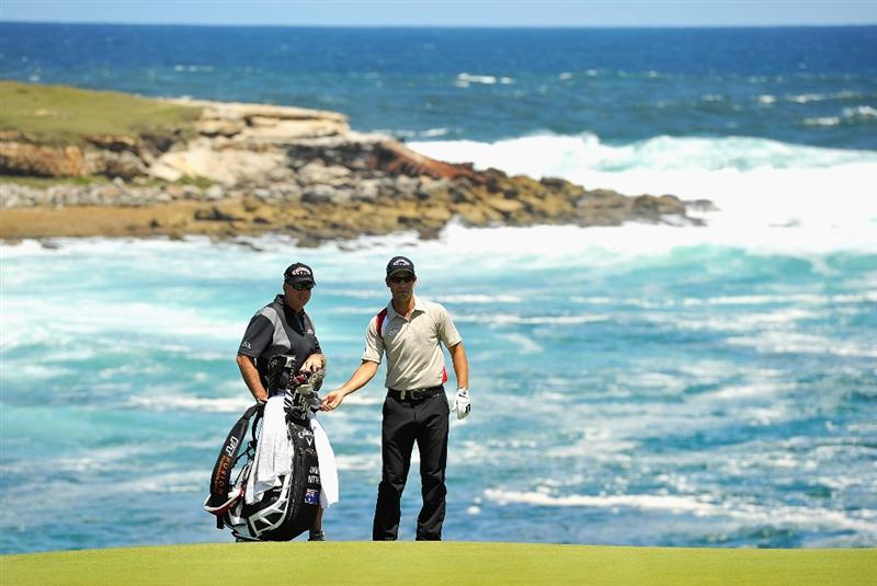 SYDNEY, AUSTRALIA - DECEMBER 02:  James Nitties of Australia prepares to play a shot during a practice round ahead of the 2009 Australian Open Golf Championship at New South Wales Golf Club on December 2, 2009 in Sydney, Australia.  (Photo by Cameron Spencer/Getty Images)