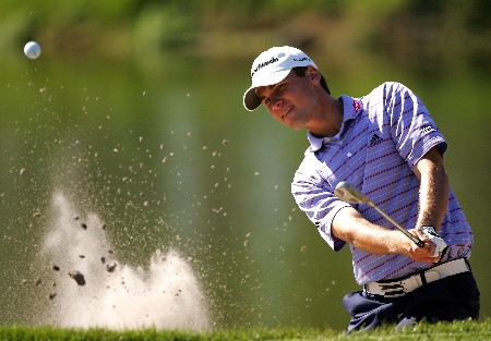 PALM HARBOR, FL - MARCH 09:  Sean O'Hair hits from the bunker on the 15th hole during the final round of the PODS Championship at Innisbrook Resort and Golf Club on March 9, 2008 in Palm Harbor, Florida.  (Photo by Sam Greenwood/Getty Images)