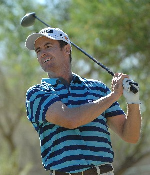 SCOTTSDALE, AZ - OCTOBER 20:  Mark Hensby tees off the 11th hole during the third round of the Fry's Electronics Open on October 20, 2007 at the Grayhawk Golf Club in Scottsdale, Arizona  (Photo by Marc Feldman/Getty Images)