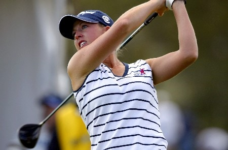 Beth Bauer competing in the final round of the LPGA SBS Open held at the Turtle Bay Resort on Oahu. February 26, 2005 in Kahuku, Hawaii.
