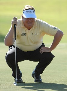 Tim Herron lines up a birdie putt on the ninth hole during the second round of the Fry's Electronics Open at Grayhawk Golf Club October 19, 2007 in Scottsdale, Arizona. PGA TOUR - 2007 Frys Electronics Open - Second RoundPhoto by Marc Feldman/WireImage.com