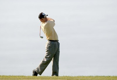 Rod Pampling hits from the fairway during the final round of the PGA TOUR's 2006 Buick Invitational at Torrey Pines South in La Jolla, California January 29, 2006.Photo by Steve Grayson/WireImage.com