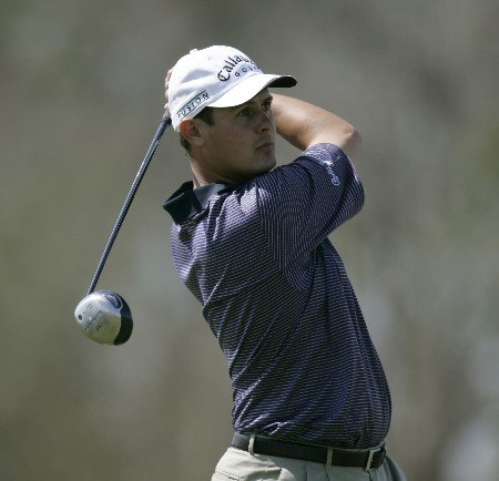 Jeff Quinney  on the 4th hole during the 1st round of the Chitimacha Open being held at Le Triomphe Golf Club in Broussard, Louisiana on March 24, 2005.