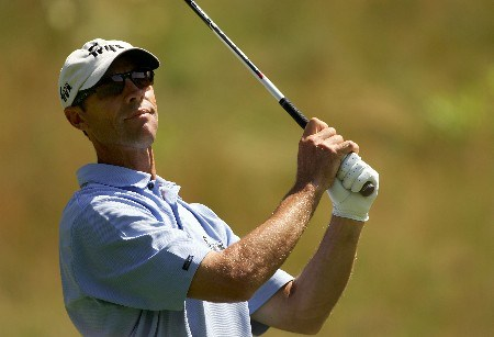OAKMONT, PA - JUNE 15:  Jeff Brehaut hits a tee shot during the second round of the 107th U.S. Open Championship at Oakmont Country Club on June 15, 2007 in Oakmont, Pennsylvania.  (Photo by Sam Greenwood/Getty Images)
