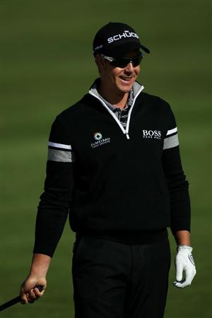 PEBBLE BEACH, CA - JUNE 16:  Henrik Stenson of Sweden looks on during a practice round prior to the start of the 110th U.S. Open at Pebble Beach Golf Links on June 16, 2010 in Pebble Beach, California.  (Photo by Andrew Redington/Getty Images)