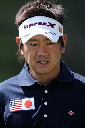 AUGUSTA, GA - APRIL 04:  Hiroyuki Fujita of Japan looks on during a practice round prior to the 2011 Masters Tournament at Augusta National Golf Club on April 4, 2011 in Augusta, Georgia.  (Photo by Harry How/Getty Images)