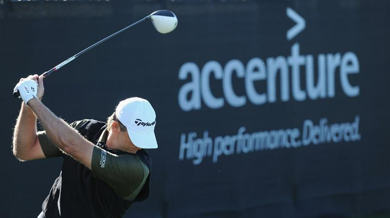 MARANA, AZ - FEBRUARY 22:  Retief Goosen of South Africa plays a shot during practice prior to the start of the World Golf Championships-Accenture Match Play Championship held at The Ritz-Carlton Golf Club, Dove Mountain on February 22, 2011 in Marana, Arizona.  (Photo by Stuart Franklin/Getty Images)