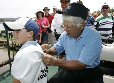 Lee Trevino signs autographs for fans after the second round of the Regions Charity Classic held at Robert Trent Jones Golf Trail at Ross Bridge in Birmingham, AL, on May 6, 2006.Photo by: Stan Badz/PGA TOUR