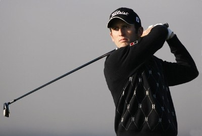 France's Gregory Bourdy during the first round of the 2007 Open de Espana at Centro National de Golf in Madrid, Spain on April 26, 2007.
