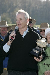 Bill Murray was presented the trophy for the lowest amateur score after the third and final round of the Outback Steakhouse Pro-Am held at TPC Tampa Bay in Lutz, Florida, on February 18, 2007. Photo by: Stan Badz/PGA TOURPhoto by: Stan Badz/PGA TOUR