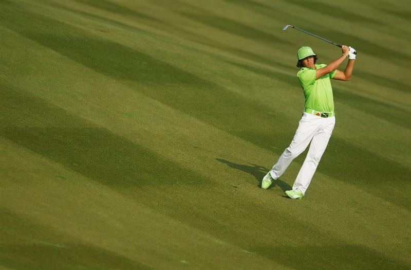 SHANGHAI, CHINA - NOVEMBER 05:  Rickie Fowler of the USA plays a shot on the second hole during the second round of the HSBC Champions at the Sheshan Golf Club on November 5, 2010 in Shanghai, China.  (Photo by Scott Halleran/Getty Images)