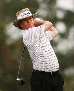 Briny Baird hits his tee shot on the ninth hole during the third round of the Ginn Sur Mer Classic at Tesoro on October 27, 2007 in Port Saint Lucie, Florida. PGA TOUR - 2007 Ginn sur Mer Classic - Third RoundPhoto by Doug Benc/WireImage.com