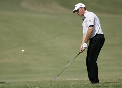 Ted Purdy chips on the 7th hole during the third round of the Southern Farm Bureau Classic at Annandale Golf Club in Madison, Mississippi, on September 30, 2006. Photo by Hunter Martin/WireImage.com