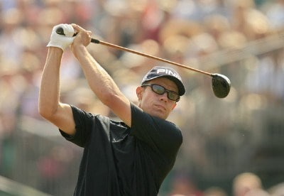 Nick O'Hern during the first round of the 135th Open Championship at Royal Liverpool Golf Club in Hoylake, Great Britain on July 20, 2006.Photo by Pete Fontaine/WireImage.com