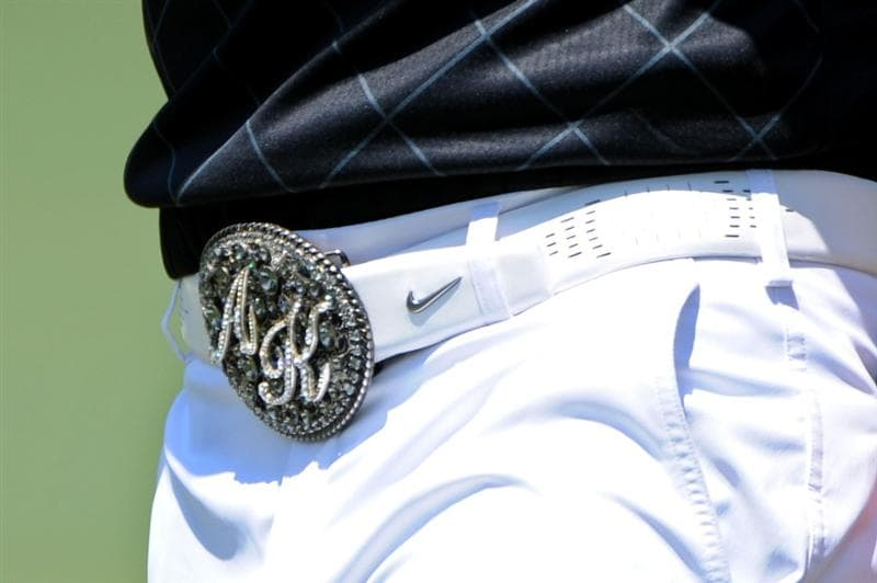 AUGUSTA, GA - APRIL 12:  Anthony Kim's belt buckle is seen during the final round of the 2009 Masters Tournament at Augusta National Golf Club on April 12, 2009 in Augusta, Georgia.  (Photo by Harry How/Getty Images)