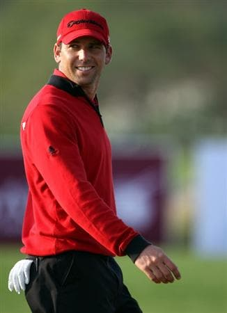 DOHA, QATAR - JANUARY 23:  Sergio Garcia of Spain smiles on the 15th hole during the second round of  the Commercialbank Qatar Masters at Doha Golf Club on January 23, 2009 in Doha, Qatar.  (Photo by Andrew Redington/Getty Images)