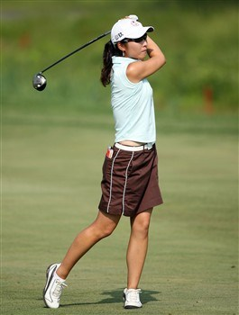 HAVRE DE GRACE, MD - JUNE 05:  Candie Kung of Taiwan hits her second shot on the 15th hole during the first round of the McDonald's LPGA Championship at Bulle Rock Golf Course on June 5, 2008 in Havre de Grace, Maryland.  (Photo by Andy Lyons/Getty Images)