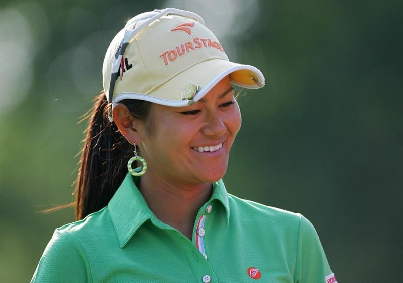 GALLOWAY, NJ - JUNE 19:  Ai Miyazato of Japan smiles during the second round of the ShopRite LPGA Classic held at Dolce Seaview Resort (Bay Course) on June 19, 2010 in Galloway, New Jersey.  (Photo by Michael Cohen/Getty Images)