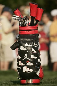 Michael Jordan's golf bag during the Pro-Am prior to the 2007 Wachovia Championship held at Quail Hollow Country Club in Charlotte, North Carolina on May 2, 2007. PGA TOUR - 2007 Wachovia Championship - Pro-AmPhoto by Sam Greenwood/WireImage.com