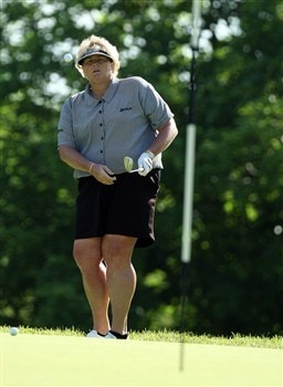 EDINAH, MN - JUNE 24:  Laura Davies of England chips beside the 3rd green during practice for the 2008 US Womens Open Championship held at The Interlachen Country Club, on June 24, 2008 in Edinah, Minnesota.  (Photo by David Cannon/Getty Images)