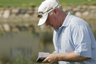 BLAINE, MN - AUGUST 3: Tom Jenkins walks off after shooting a 64 to tie for the lead during the first round of the 3M Championship August 3, 2007 at TPC Twin Cities in Blaine, Minnesota.  Champions Tour - 2007 3M Championship - First RoundPhoto by Michael Cohen/WireImage.com