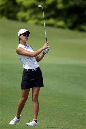 SINGAPORE - FEBRUARY 24:  Michelle Wie of the USA during the first round of the HSBC Women's Champions at Tanah Merah Country Club  on February 24, 2011 in Singapore, Singapore.  (Photo by Ross Kinnaird/Getty Images)